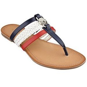 Tommy Hilfiger Red White & Blue Sandals